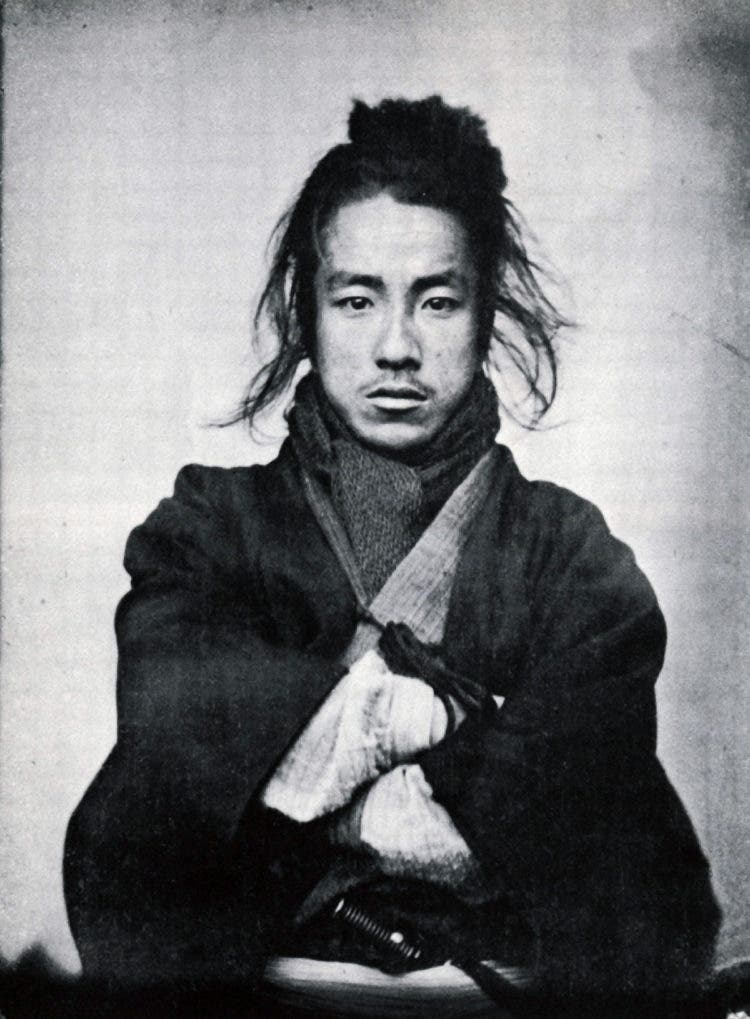 1860's photo of a Japanese Samurai. (Photo by Universal History Archive/UIG via Getty Images)