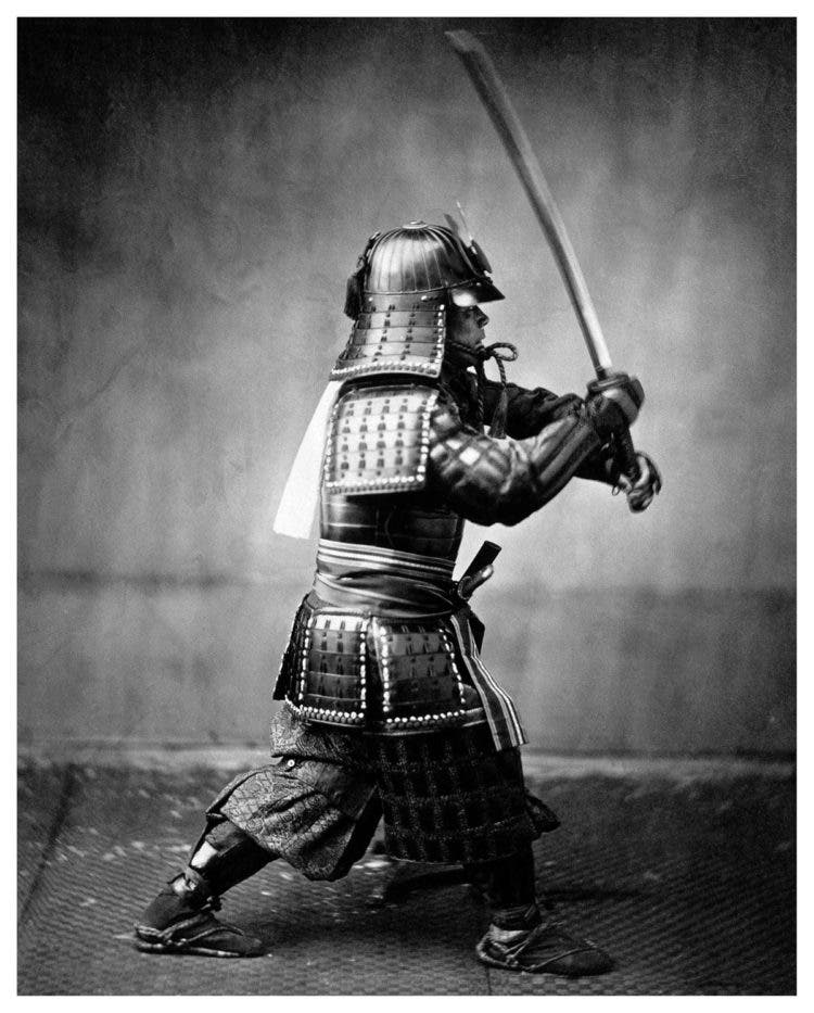 Japanese Samurai warrior, Vintage photograph from japan 1867. (Photo by Universal History Archive/UIG via Getty Images)