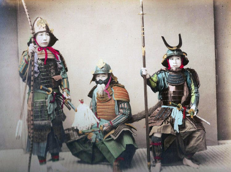 Japanese samurai warriors, 1900. (Photo by Universal History Archive/UIG via Getty Images)