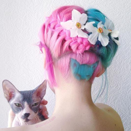 corte sesgado gato arcoiris 7