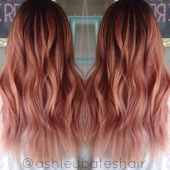 cabello rosa dorado 8