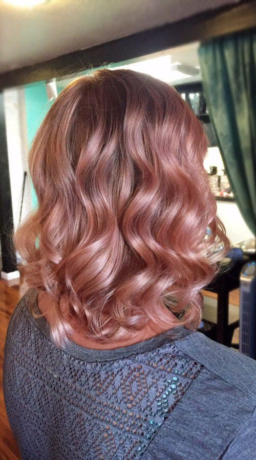 cabello rosa dorado 9