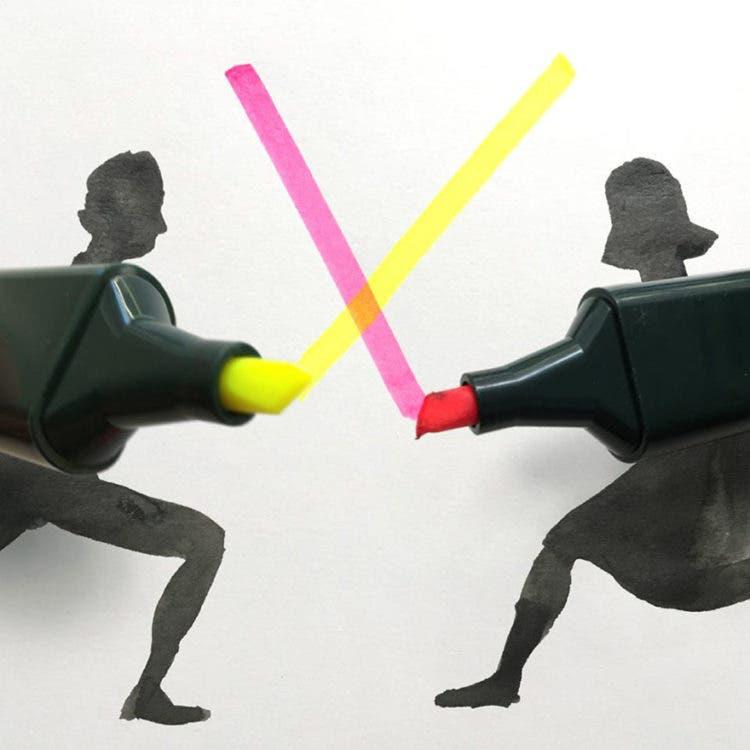 ilustraciones con objetos 18