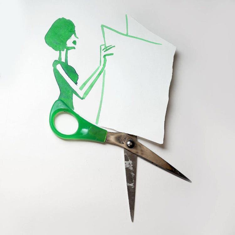 ilustraciones con objetos 9