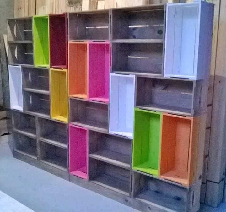 muebles con huacales 1