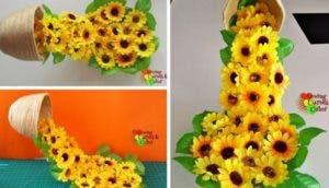taza flotando con flores id