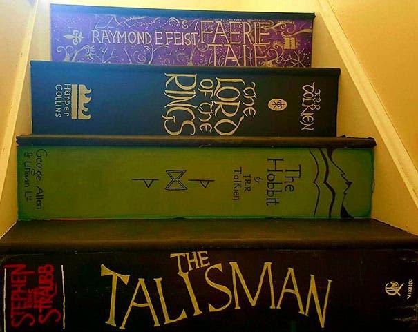 escalera con libros 5