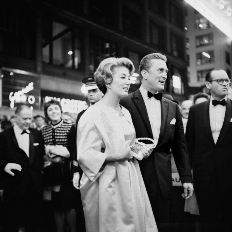 Kirk Douglas at the premiere of the movie Spartacus in Chicago, IL. October 13, 1960