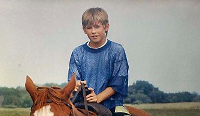 NOTE: PHOTO PROVIDED BY PATTY AND JERRY WETTERLING -- 11-year-old Jacob Wetterling, on a horseback riding excursion, circa summer 1989, before he was abducted and kidnapped near his St. Joesph home. Photo copied on Sunday, October 18, 2009. (Pioneer Press: Richard Marshall)
