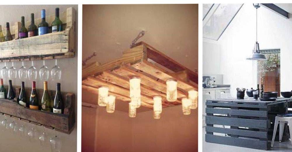 25 creativas ideas para fabricar muebles de cocina - Ideas con palets de madera ...