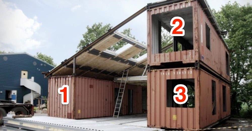 Convierten 3 contenedores en una casa que es envidiada por todos los que la visitan