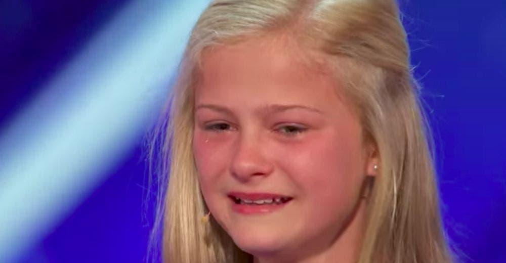 Los jueces de «America's Got Talent» hacen que una niña rompa a llorar después de su actuación