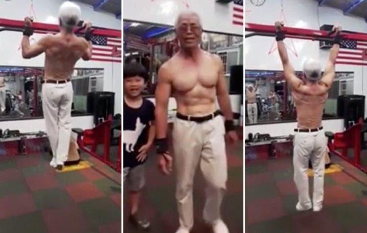 abuelo mas fuerte del mundo Huang Ching-hsin granjero chino