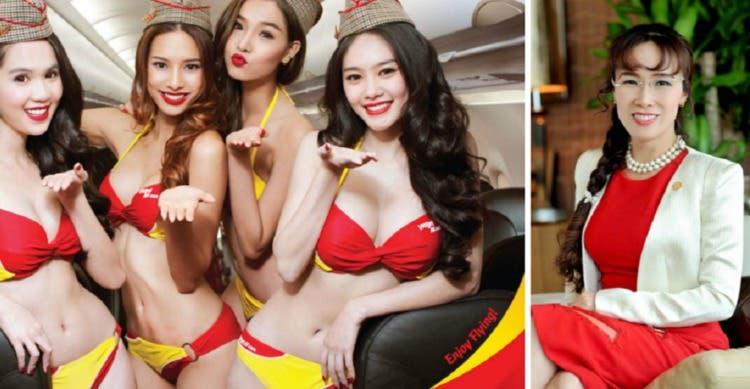 primera aerolinea en bikini es tan existosa que su dueña sera la primera billonaria de vietnam first billionaire woman owner airline vietjet
