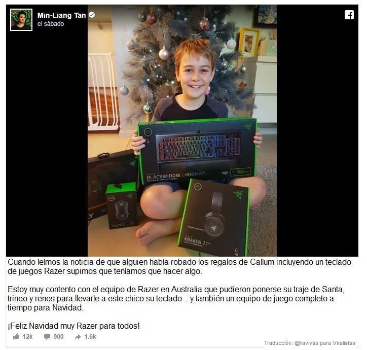 Adela Courteille y sus hijos Callum, de 12 años y Chelsea dee why sidney australia robo regalos navidad razer teclado juegos Tan Min-Liang ceo salvo navidad