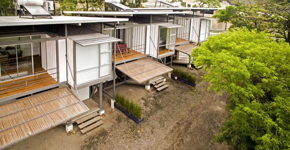 casa en costa rica ecologica hecha de contenedores hermosa Re Arquitectura contenedores franceschi rio enfriamiento pasivo pasive cooling sustainable ecological green containers