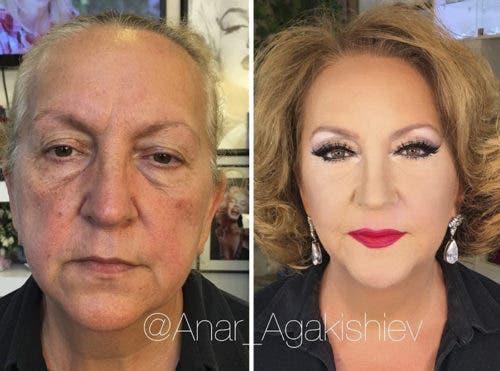 Lo que ha hecho por esta señora es absolutamente sublime y en su rostro verás que ella también se siente así.