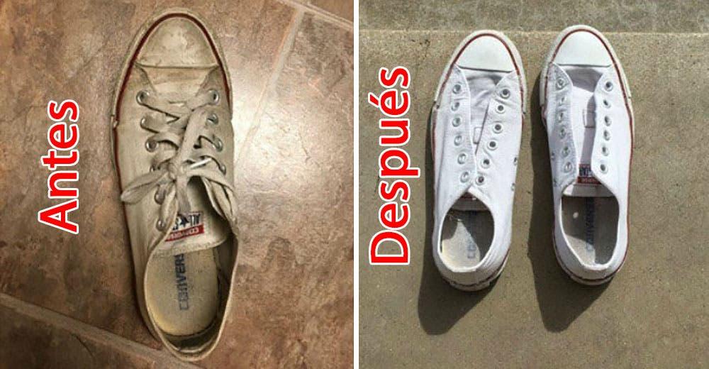 El mejor truco para dejar tus viejas y sucias zapatillas blancas como nuevas