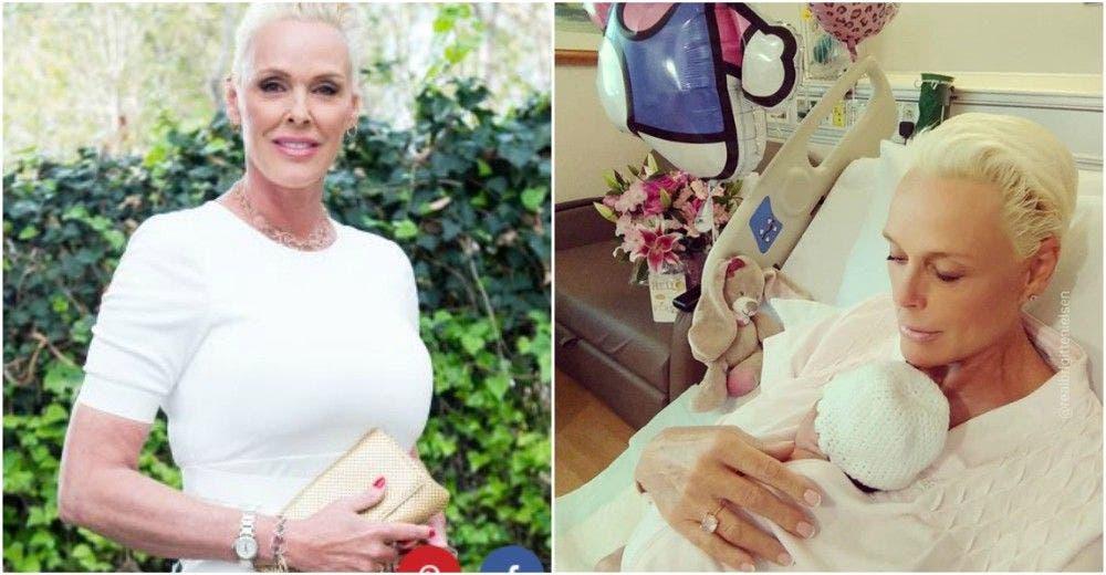 embarazada a los 54 años brigitte nielsen bebe nro 5 dar a luz nacio