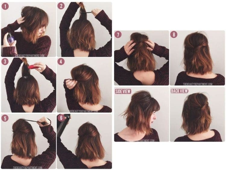 Formas de moda también peinados niña pelo corto paso a paso Fotos de las tendencias de color de pelo - 10 maravillosos peinados para mujeres de cabello corto ...