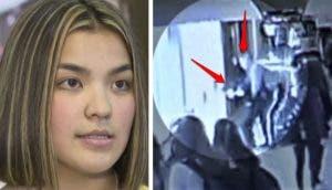 Un policía actúa justo a tiempo para salvar la vida de una adolescente en el colegio