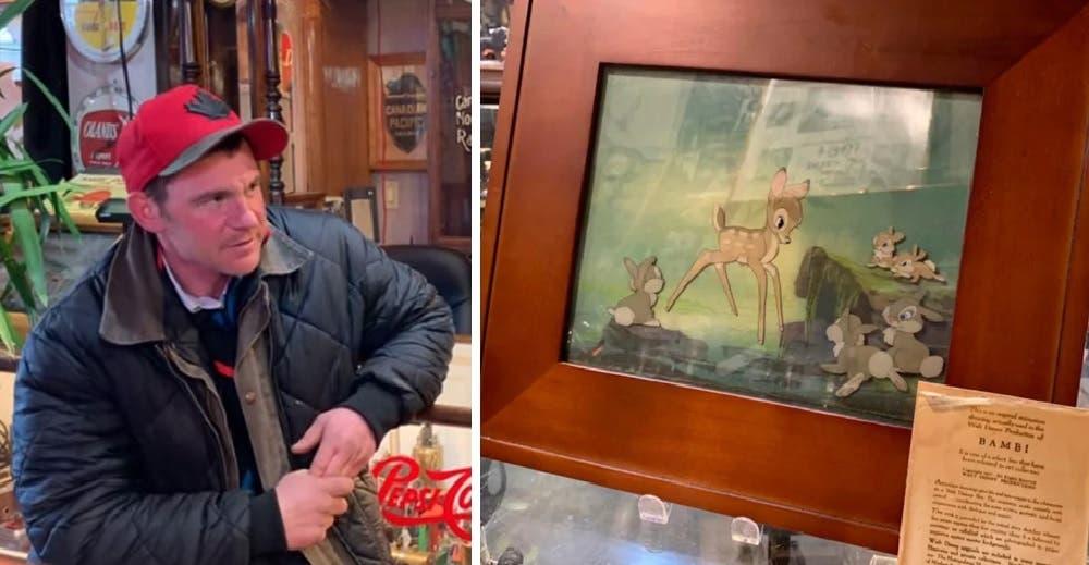 Busca al hombre sin hogar que le vendió un cuadro hallado en la basura para recompensarlo