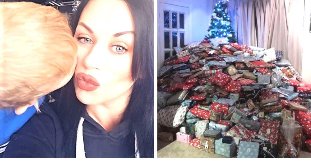 Se convierte en objeto de críticas al compartir una foto del árbol navideño repleto de regalos
