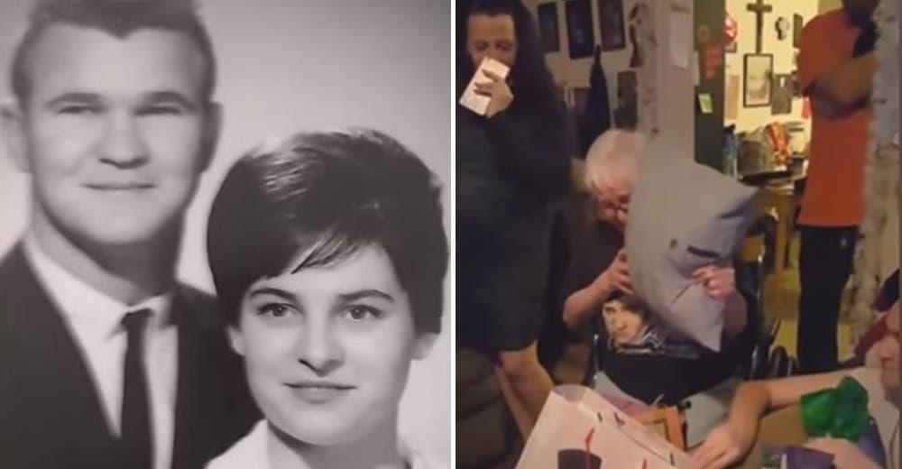 Le entrega un emotivo regalo a su abuela para aliviar su dolor tras la pérdida de su esposo