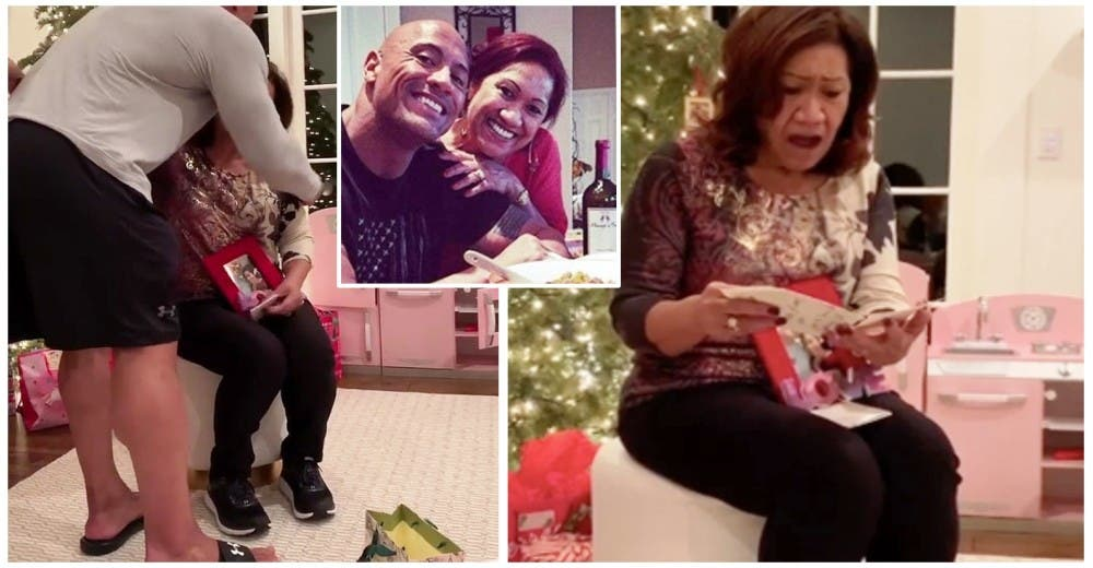 Dwayne Johnson «La Roca» sorprende a su mamá con una casa nueva como regalo de Navidad