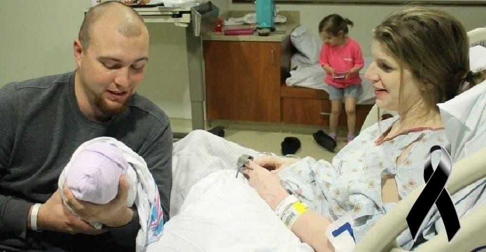 Con el corazón roto anuncia el nacimiento de su hijo y la pérdida de su esposa en 24 horas
