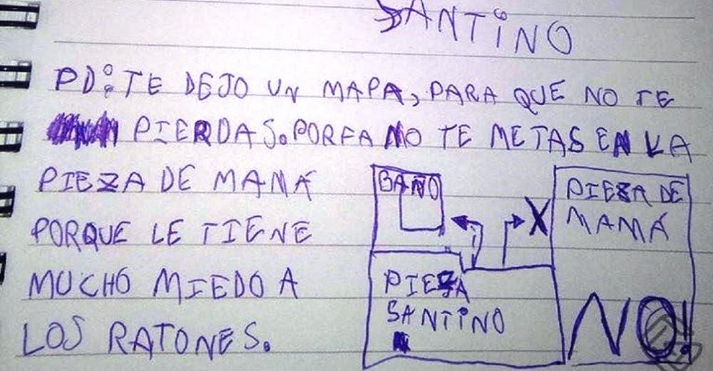Un niño le escribe una emotiva carta al Ratón Pérez para pedirle que no asuste a su mamá