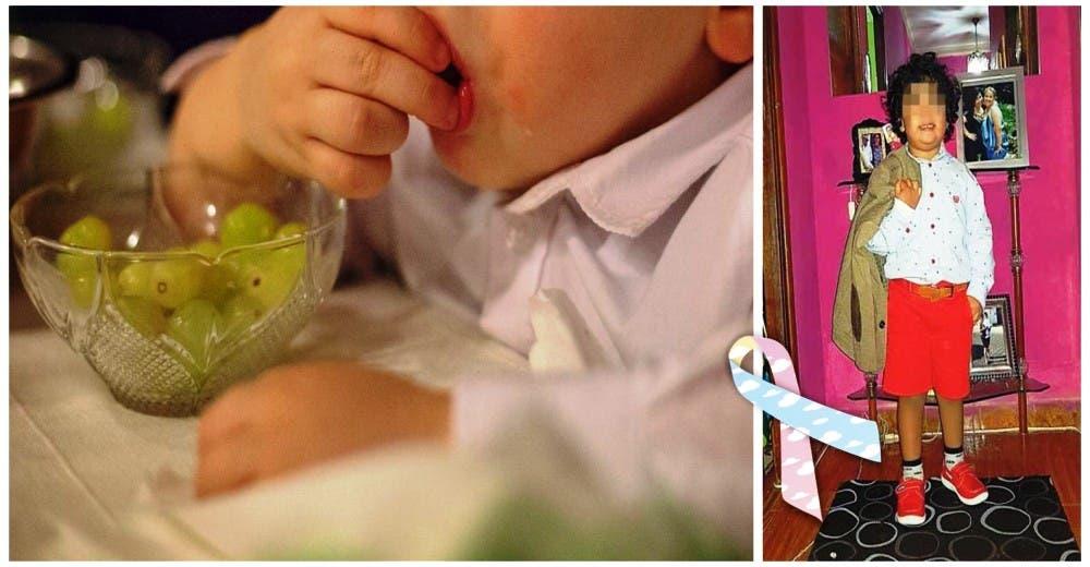 La angustia de una mamá tras perder a su pequeño de 3 años atragantado con una uva