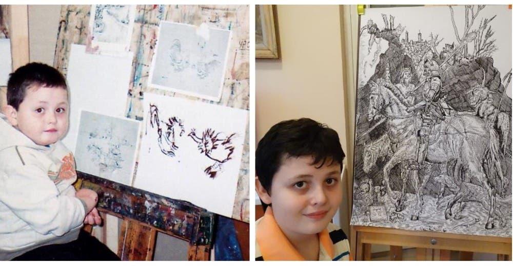 Desde que tenía 2 años mostró su talento como artista y ahora impresiona al mundo con sus obras