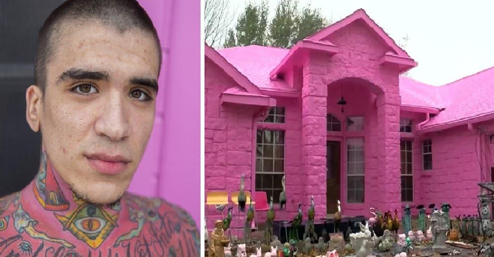 Despierta la ira de sus vecinos al pintar por completo la fachada de su casa