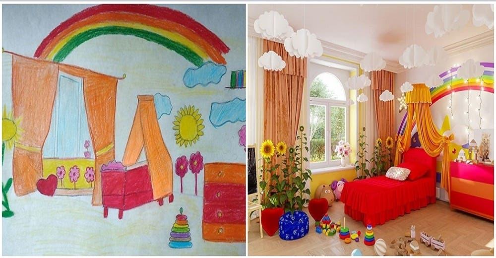 Les piden a 7 niños que dibujen la habitación de sus sueños para hacerlas realidad