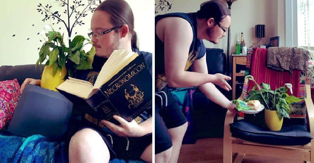 Su compañera de piso le pide que cuide sus plantas y le responde con unas divertidas fotos