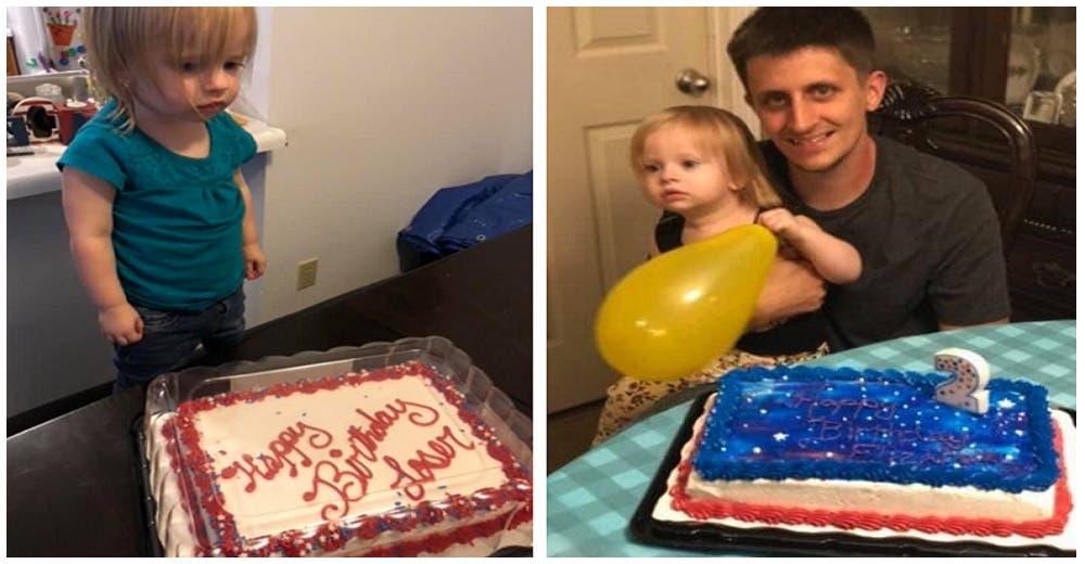 «Feliz cumpleaños perdedora» – Un patético pastel casi arruina el cumpleaños de una tierna niña