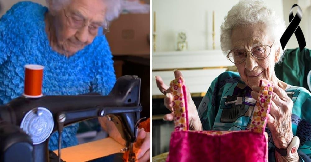 Con más de 100 años se levantaba cada madrugada para coser vestidos a niñas de bajos recursos