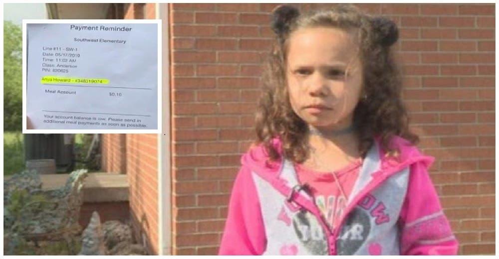 Una niña de 6 años es humillada en el colegio porque no tenía el dinero completo para almorzar