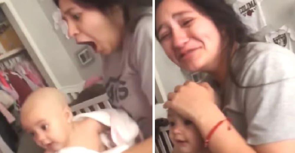 Se queda en shock al ver lo que le hizo su esposo a su bebé mientras ella dormía