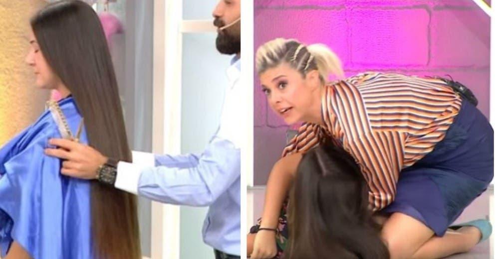 Se desmaya al verse en el espejo tras someterse a un cambio de look en un programa en vivo