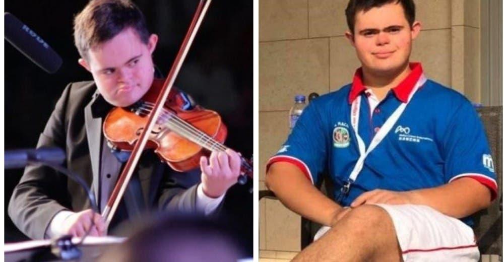 Es músico, deportista, habla 4 idiomas y demuestra que tener Síndrome de Down no es un límite