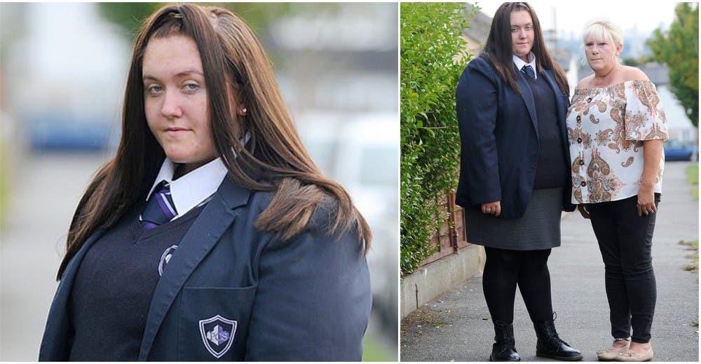 No usa el uniforme oficial porque no ofrecen su talla y la expulsan de clase