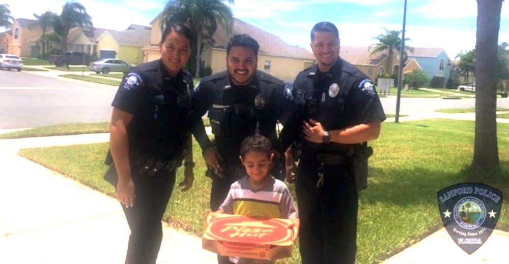 La lección que le dieron los oficiales al niño que llamó de emergencia porque «moría de hambre»