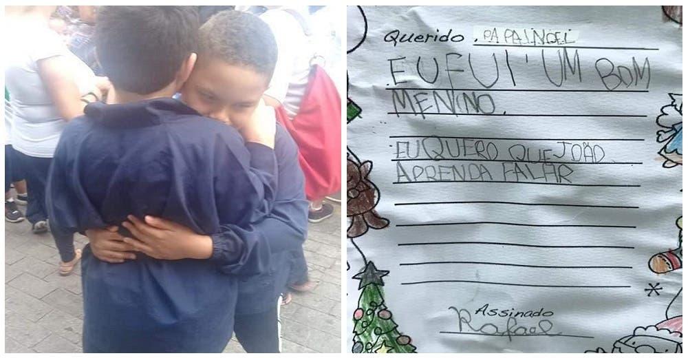 En una emotiva carta, un niño autista le pide a Santa que su mejor amigo aprenda a hablar