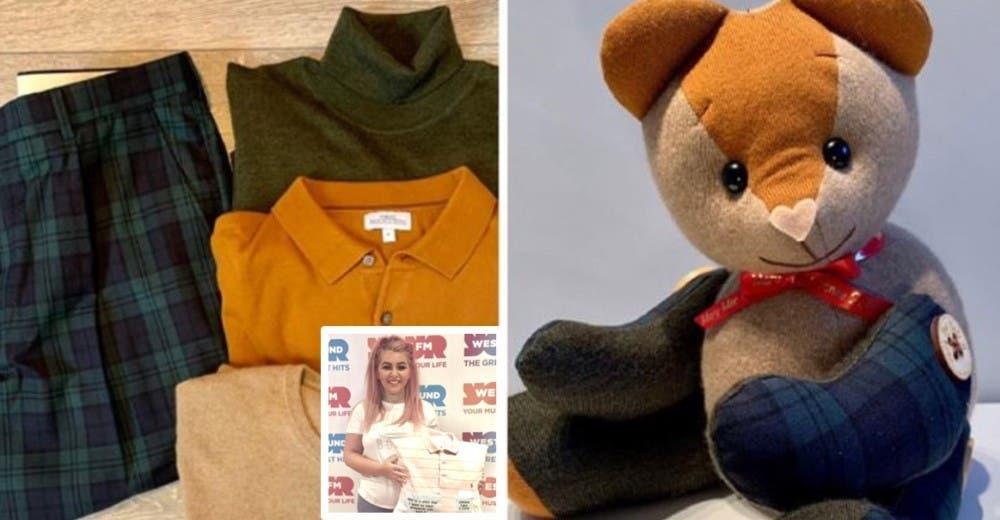 «Los osos del recuerdo», un producto hecho con las prendas y cenizas de personas fallecidas