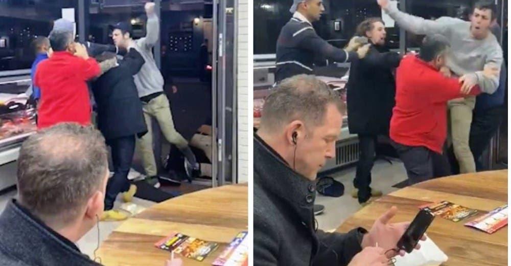El vídeo viral de la reacción del hombre que comía patatas fritas ante un enfrentamiento