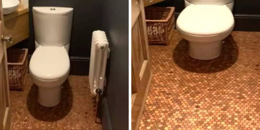 Publica cómo transformó el piso de su baño gastando solo 64 euros y se hace viral