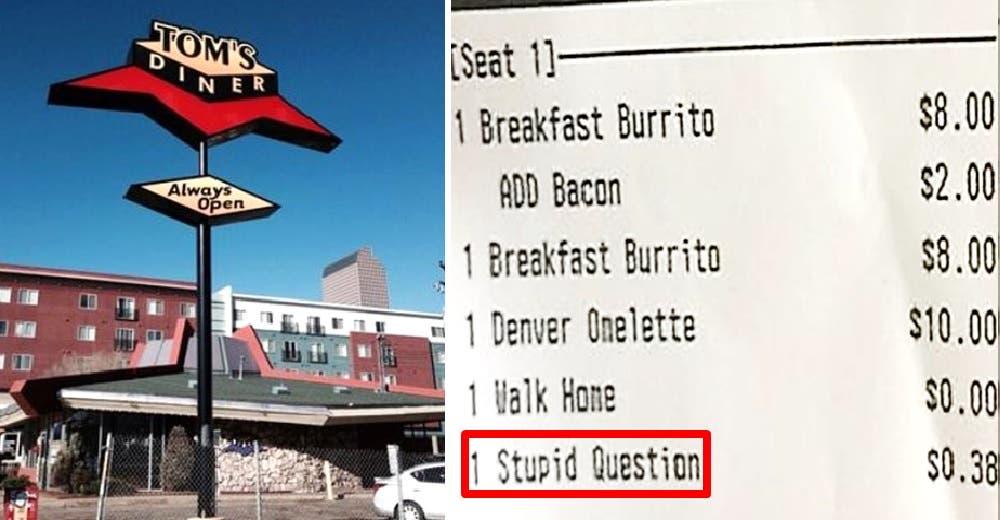En este restaurante cobran por cada «pregunta estúpida» que hagan los clientes al personal