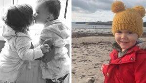 Una niña de 3 años se despide de su gemelo que lucha por sobrevivir en el hospital